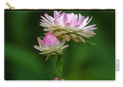 Carry-all Pouch featuring the photograph Tiny Dahlias Green Aura by Byron Varvarigos