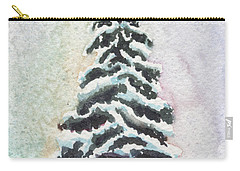 Tiny Snowy Tree Carry-all Pouch