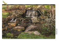 Carry-all Pouch featuring the photograph Tiny Stream by Angie Tirado