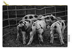 Carry-all Pouch featuring the photograph Tiny Tails by Lora Lee Chapman
