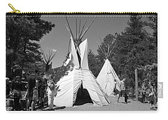 Tipis In Black Hills Carry-all Pouch by Matt Harang
