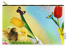 Tiptoe Through The Tulips Carry-all Pouch by Liane Wright