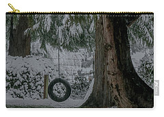 Tire Swing In Winter Carry-all Pouch