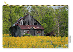 Carry-all Pouch featuring the photograph Tired Indiana Barn - D010095 by Daniel Dempster