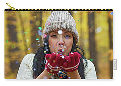 Carry-all Pouch featuring the photograph Tis The Season.. by Nina Stavlund