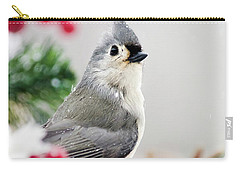 Carry-all Pouch featuring the photograph Titmouse Bird Portrait by Christina Rollo