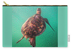 Tito The Turtle Carry-all Pouch by Erika Swartzkopf