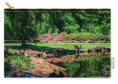 Taking A Break At The Azalea Pond Carry-all Pouch by Tamyra Ayles