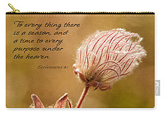 To Everything A Season Carry-all Pouch by Mary Jo Allen