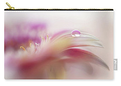 Carry-all Pouch featuring the photograph To Live In Dream 2. Macro Gerbera by Jenny Rainbow