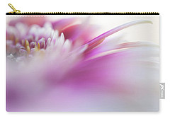 Carry-all Pouch featuring the photograph To Live In Dream. Macro Gerbera by Jenny Rainbow