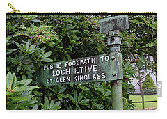 Carry-all Pouch featuring the photograph To Loch Etive by RKAB Works