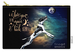 Carry-all Pouch featuring the digital art To The Moon by Kathy Tarochione