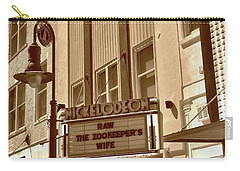 Carry-all Pouch featuring the photograph To The Movies by Skip Willits