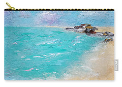 Carry-all Pouch featuring the painting To The Rocks by Judith Rhue