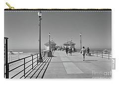 Carry-all Pouch featuring the photograph To The Sea On Huntington Beach Pier by Ana V Ramirez