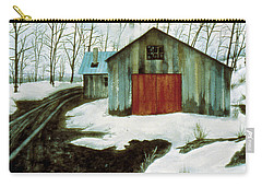 Carry-all Pouch featuring the painting To The Sugar House by Karen Zuk Rosenblatt