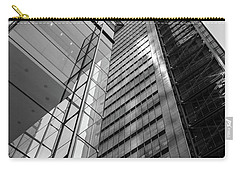 Carry-all Pouch featuring the photograph To The Top   -27870-bw by John Bald