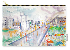 To The Wet City Carry-all Pouch by Mary Armstrong