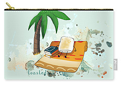 Carry-all Pouch featuring the digital art Toasted Illustrated by Heather Applegate