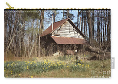 Carry-all Pouch featuring the photograph Tobacco Barn In Spring by Benanne Stiens