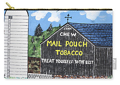 Carry-all Pouch featuring the painting Pennsylvania Tobacco Barn by Jeffrey Koss