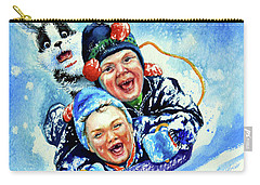 Carry-all Pouch featuring the painting Toboggan Terrors by Hanne Lore Koehler