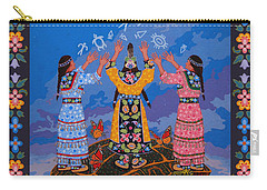 Carry-all Pouch featuring the painting Together We Over Come Obstacles by Chholing Taha