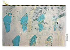 Carry-all Pouch featuring the painting Tokens by Robin Maria Pedrero
