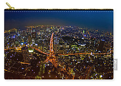 Carry-all Pouch featuring the photograph Tokyo At Night by Dan Wells