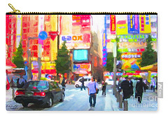 Carry-all Pouch featuring the painting Tokyo by Chris Armytage