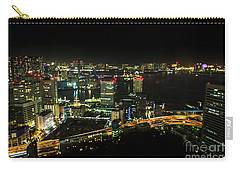 Tokyo Cityscape And Odaiba Skyline Carry-all Pouch