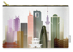 Tokyo  Cityscape Carry-all Pouch by Dim Dom