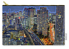 Tokyo Japan Skyline Carry-all Pouch by Marvin Blaine