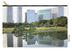 Tokyo Skyline Reflection Carry-all Pouch by Carol Groenen