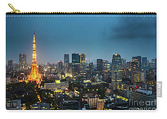 Tokyo Tower And Skyline Carry-all Pouch