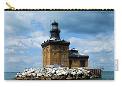 Carry-all Pouch featuring the photograph Toledo Harbor Lighthouse by Michiale Schneider