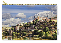Toledo. Majestic Stone Fortress The Alcazar Is Visible From Any Part Of The City Carry-all Pouch