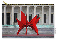 Toledo Museum Of Art With Alexander Calder 1973 'stegosaurus' II Carry-all Pouch