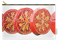 Tomato On White Background Carry-all Pouch by Kristin Elmquist