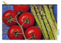 Tomatoes And Asparagus  Carry-all Pouch
