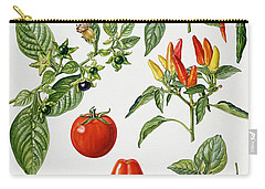 Tomatoes And Related Vegetables Carry-all Pouch by Elizabeth Rice