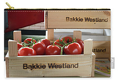 Carry-all Pouch featuring the photograph Tomatoes In A Crate by Hans Engbers