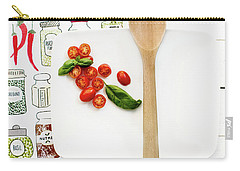 Carry-all Pouch featuring the photograph Tomatoes On White Platter Still Life by Rebecca Cozart