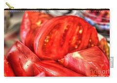 Carry-all Pouch featuring the pyrography Tomatoes by Yury Bashkin
