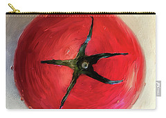 Carry-all Pouch featuring the digital art Tomato by Lois Bryan