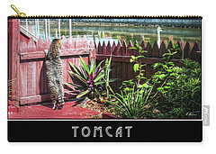 Carry-all Pouch featuring the photograph Tomcat Breakfast by Hanny Heim