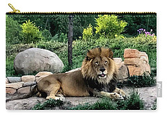 Tomo, The King Of Beasts Carry-all Pouch by Laurel Talabere