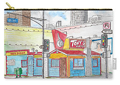 Tony Burger, Downtown Los Angeles, California Carry-all Pouch by Carlos G Groppa
