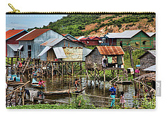 Tonle Sap Boat Village Cambodia Carry-all Pouch